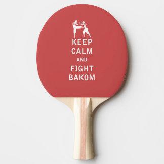 Mantenga tranquilo y lucha Bakom Pala De Tenis De Mesa