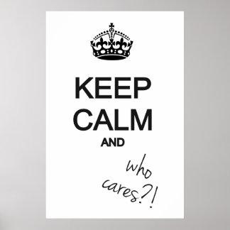 ¡mantenga tranquilo y quién cuida?! poster
