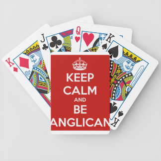 Mantenga tranquilo y sea anglicano baraja de cartas bicycle