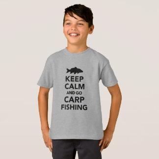 """""""Mantenga tranquilo y vaya camiseta de la pesca de"""