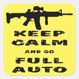 Mantenga tranquilo y vaya Full Auto Pegatina