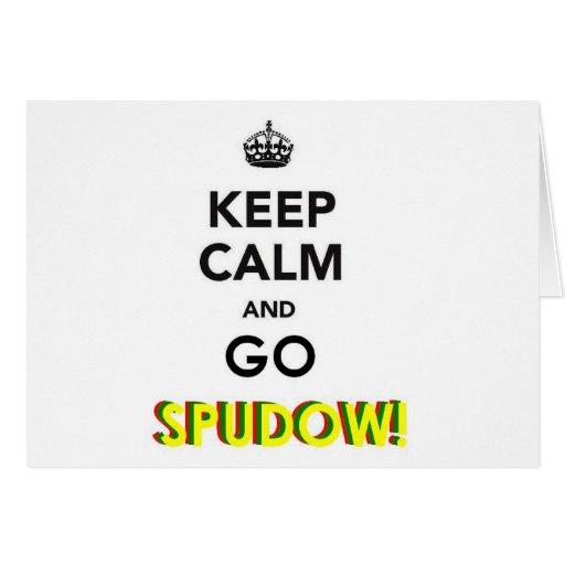 "¡'Mantenga tranquilo y vaya SPUDOW! ""Productos Tarjeta"