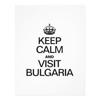 MANTENGA TRANQUILO Y VISITA BULGARIA TARJETAS PUBLICITARIAS
