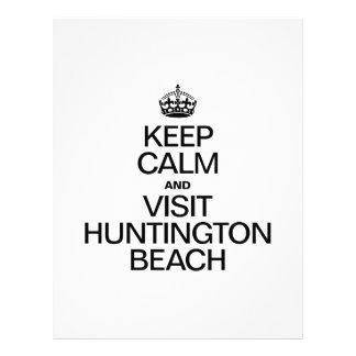 MANTENGA TRANQUILO Y VISITA HUNTINGTON BEACH FOLLETO 21,6 X 28 CM