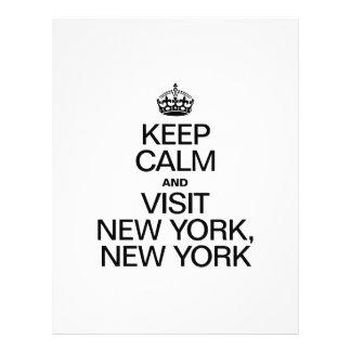 MANTENGA TRANQUILO Y VISITA NUEVA YORK NUEVA YORK FOLLETO 21,6 X 28 CM