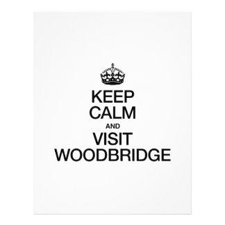 MANTENGA WOODBRIDGE TRANQUILO Y DE LA VISITA FOLLETO 21,6 X 28 CM