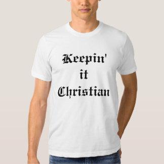 Manteniéndolo cristiano camisas