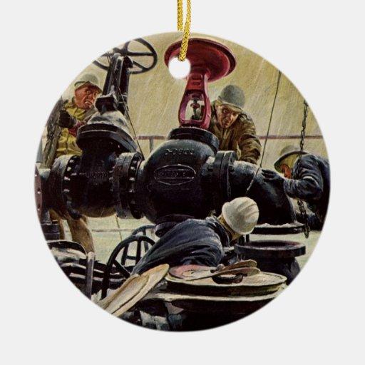 Mantenimiento marítimo del vintage, marineros en l ornamentos de navidad