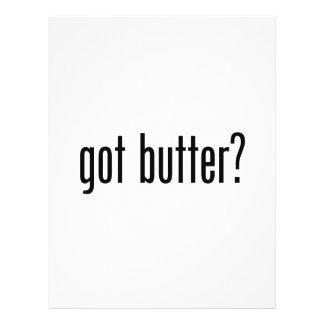 mantequilla conseguida tarjeta publicitaria