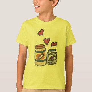 Mantequilla del cacahuete del niño divertido y camiseta