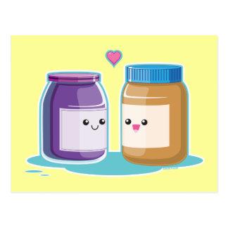 Mantequilla y jalea de cacahuete postal