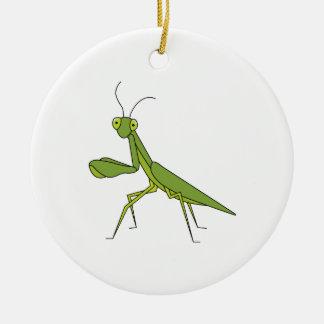 Mantis religiosa adorno de cerámica