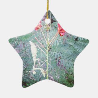 Mantis religiosa adorno navideño de cerámica en forma de estrella