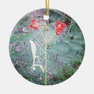 Mantis religiosa adorno navideño redondo de cerámica