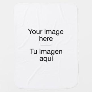 Mantita de bebé con plantilla en blanco y tu foto mantita para bebé