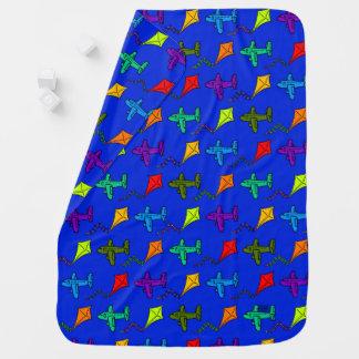 Mantita Para Bebé Aeroplanos y cometas III
