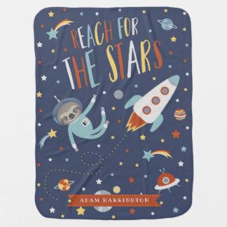 Mantita Para Bebé Alcance para las estrellas - pereza del espacio -
