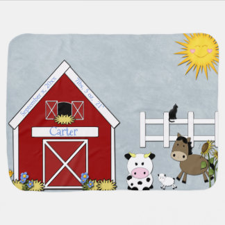 Mantita Para Bebé Animales del corral, granja, personalizado