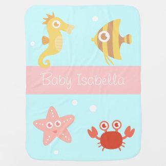 Mantita Para Bebé Animales subacuáticos de Kawaii, para los bebés