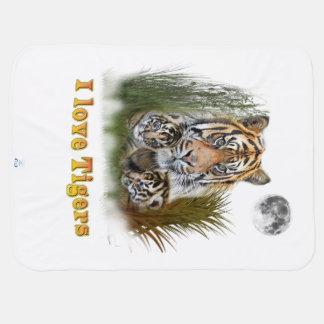 Mantita Para Bebé Arte del tigre y de los cachorros