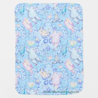 Mantita Para Bebé Azul de la danza del oso polar de Edward Huse