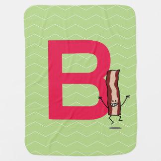 Mantita Para Bebé B está para la letra de salto feliz del ABC de la