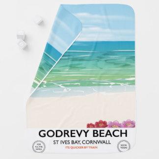 Mantita Para Bebé Bahía de St Ives de la playa de Godrevy, poster