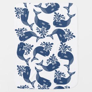 Mantita Para Bebé Ballenas azules