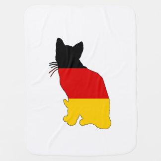 Mantita Para Bebé Bandera alemana - gato