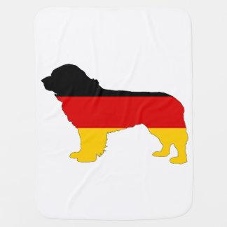 Mantita Para Bebé Bandera alemana - perro de Terranova