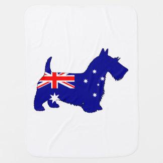Mantita Para Bebé Bandera australiana - escocés Terrier