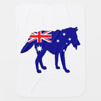 Mantita Para Bebé Bandera australiana - lobo