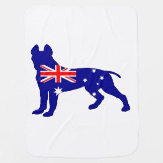 Mantita Para Bebé Bandera australiana - pitbull Terrier