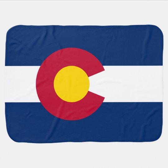 Mantita Para Bebé Bandera patriótica de Colorado