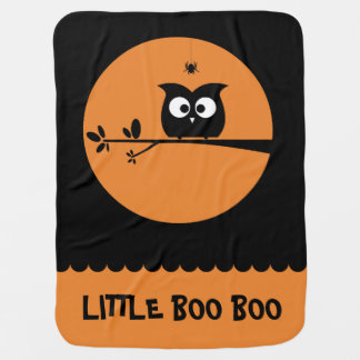 Mantita Para Bebé Búho lindo de Halloween + colores de fondo