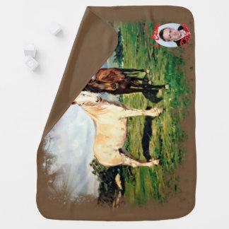 Mantita Para Bebé Caballos/Cabalos/Horses