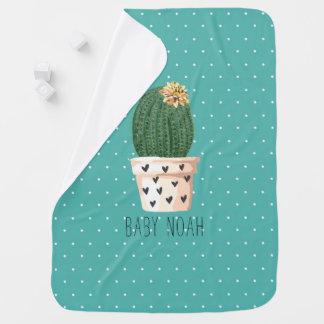 Mantita Para Bebé Cactus y turquesa lindos del lunar
