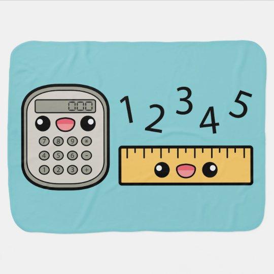 Mantita Para Bebé Calculadora Y Regla Lindas Con Números Zazzlees