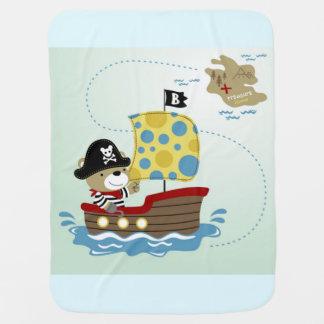Mantita Para Bebé Caza del oso del pirata para el tesoro
