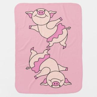 Mantita Para Bebé Cerdo del ballet