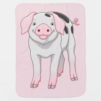 Mantita Para Bebé Cerdo viejo lindo de los puntos de Gloucestershire