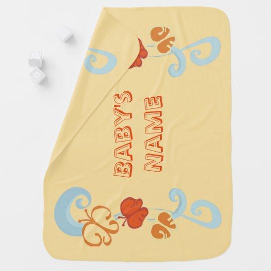 Mantita Para Bebé Cintas y Butterfiles