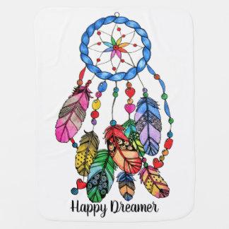 Mantita Para Bebé Colector del sueño del arco iris de la acuarela y