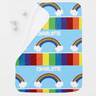 Mantita Para Bebé Colorido personalizada modelo del arco iris