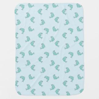 Mantita Para Bebé Delfínes combinados del bebé