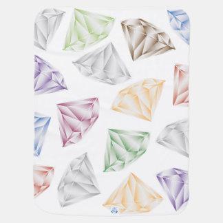 Mantita Para Bebé Diamantes coloridos para mi amor