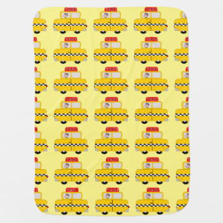 Mantita Para Bebé Diseño amarillo del taxi