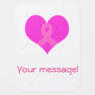 Mantita Para Bebé Diseño de la caridad del cáncer del corazón y de