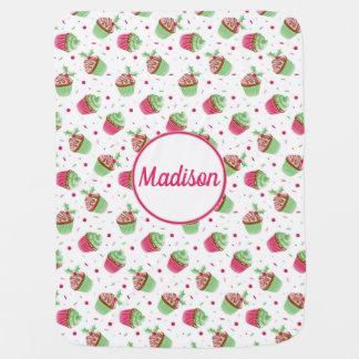 Mantita Para Bebé Diseño de la magdalena del navidad en colores del