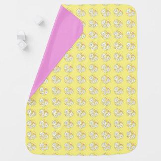 Mantita Para Bebé Diseño floral de la margarita de la niña